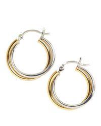 Lord & Taylor - Metallic Sterling Silver Twist Hoop Earrings - Lyst