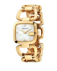 Gucci Metallic G- Collection Goldtone Gold Pvd Stainless Steel Watch