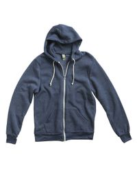 Alternative Apparel | Blue Zip Up Hoodie for Men | Lyst
