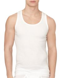 Calvin Klein | White Classic Cotton Tank/ 3-pack for Men | Lyst