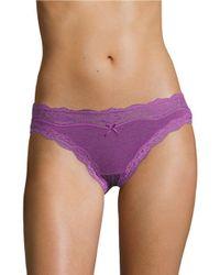 DKNY | Purple Downtown Cotton Bikini Panties | Lyst