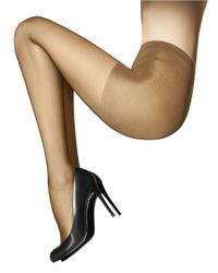 Wolford | Natural Individual Semi-Sheer Tights With Control Top | Lyst