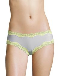 Calvin Klein | Multicolor Lace-trimmed Hipster Panties | Lyst