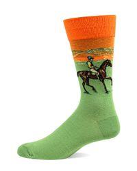 Hot Sox | Green Polo Crew Socks for Men | Lyst