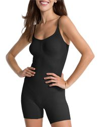 Spanx | Black Oncore Mid-thigh Bodysuit | Lyst