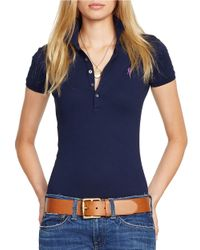 Polo Ralph Lauren | Blue Skinny Stretch Polo Shirt | Lyst