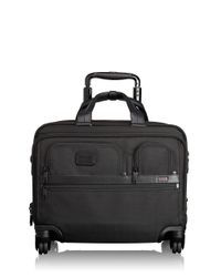 Tumi | Black Alpha 2 4-wheel Deluxe Brief With Laptop Case for Men | Lyst