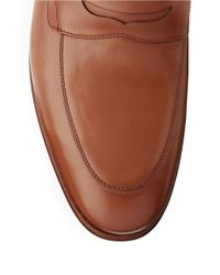 A.Testoni - Brown Leather Dress Slip-ons for Men - Lyst