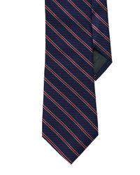 Lauren by Ralph Lauren - Blue Striped Silk Twill Tie for Men - Lyst