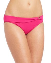 Lauren by Ralph Lauren - Pink Floral Twist Hipster Bikini Bottom - Lyst