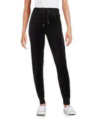 Calvin Klein | Black Velour Jogger Pants | Lyst