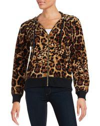 Calvin Klein | Brown Patterend Velour Sweatshirt | Lyst