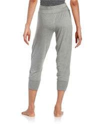 Splendid - Gray Cropped Joggers - Lyst