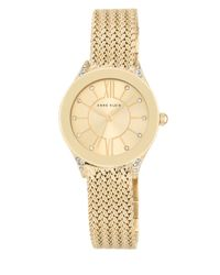 Anne Klein | Metallic Swarovski Crystal-accented Braided Bracelet Watch, Ak2208chgb | Lyst