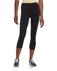 Betsey Johnson | Black Strappy Cropped Leggings | Lyst