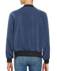 Lord & Taylor | Blue Knit-trimmed Bomber Jacket for Men | Lyst