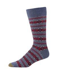 Goldtoe | Blue Textured Crew Socks for Men | Lyst