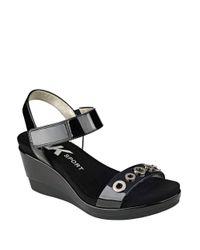 Anne Klein - Black Pelonia Slip-on Sandals - Lyst