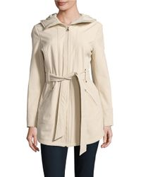 Jessica Simpson | Natural ?water-resistant Hooded Raincoat | Lyst
