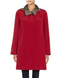 Gallery | Red Removable Hood Rain Coat | Lyst