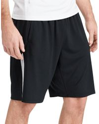 Polo Ralph Lauren | Black Contrast-stripe Textured Shorts for Men | Lyst