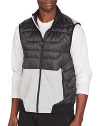 Polo Ralph Lauren | Black Crest Hybrid Down Vest for Men | Lyst