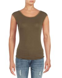 Free People | Green Muscle Surplice Cami | Lyst