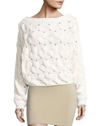 Free People | White Desert Sands Boatneck Sweater | Lyst