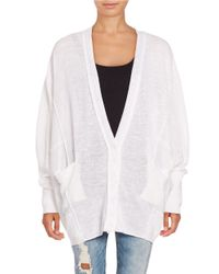 Free People | White Days Like This Cardigan | Lyst