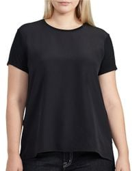 Lauren by Ralph Lauren | Black Plus Short Sleeve Jersey Tee | Lyst