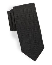 HUGO | Black Pin Dot Silk Tie for Men | Lyst