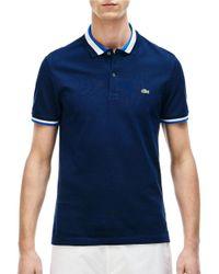 Lacoste   Blue Slim Fit Fancy Polo Shirt for Men   Lyst