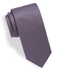 HUGO | Purple Patterned Silk Tie for Men | Lyst