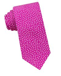 Ted Baker | Pink Dotted Silk-blend Tie for Men | Lyst
