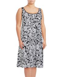 Lord & Taylor | White Plus Floral Nightgown | Lyst