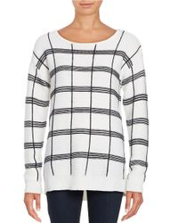 Calvin Klein | White Ribbed Grid Sweater | Lyst