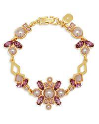 Ivanka Trump | Metallic 4mm, 6mm And 8mm Faux Pearls Goldplated Flex Bracelet | Lyst