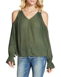 Jessica Simpson | Green Lexa Open Shoulder Top | Lyst
