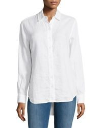 Lord & Taylor | White Linen Button-down Shirt | Lyst