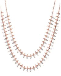Lucky Brand   Metallic Two-tone Multi-strand Necklace   Lyst
