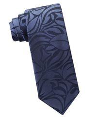 Calvin Klein | Blue Urban Palm Silk Tie for Men | Lyst