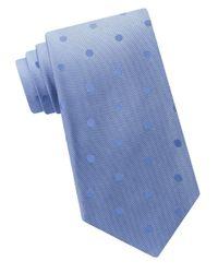Calvin Klein | Blue Textured Silk Tie for Men | Lyst