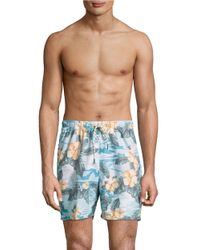 Tommy Bahama | Blue Naples Camo Tiles Swim Trunks for Men | Lyst