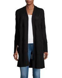 Calvin Klein Jeans | Black Textured Knit Cardigan | Lyst