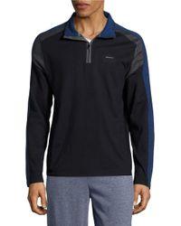 Calvin Klein   Blue Colorblocked Quarter-zip Pullover for Men   Lyst