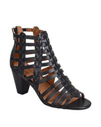 Corso Como | Black Cour Strappy Leather High-heel Sandals | Lyst