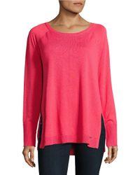 Calvin Klein | Pink Knit Tunic Sweater | Lyst