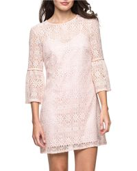 Jessica Simpson | Pink Bell-sleeve Lace Dress | Lyst