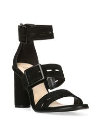 Fergie | Black Open-toe Suede Sandals | Lyst