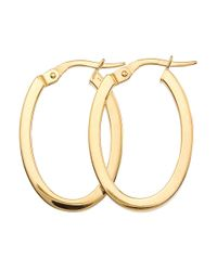 Roberto Coin | Metallic Perfect Gold Hoops 18k Yellow Gold Earrings- 0.98in | Lyst